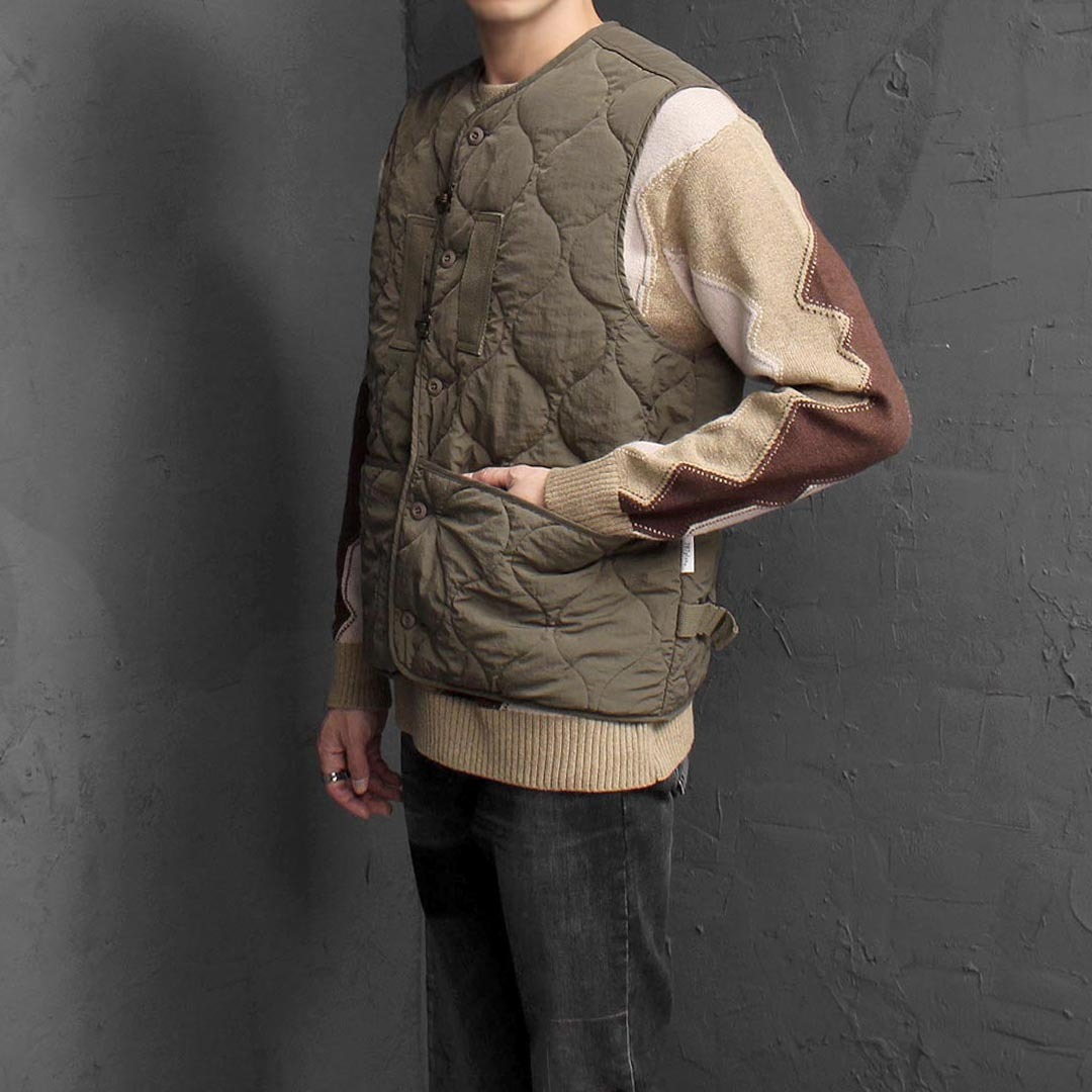 Hook Quilting Padded Vest 1566