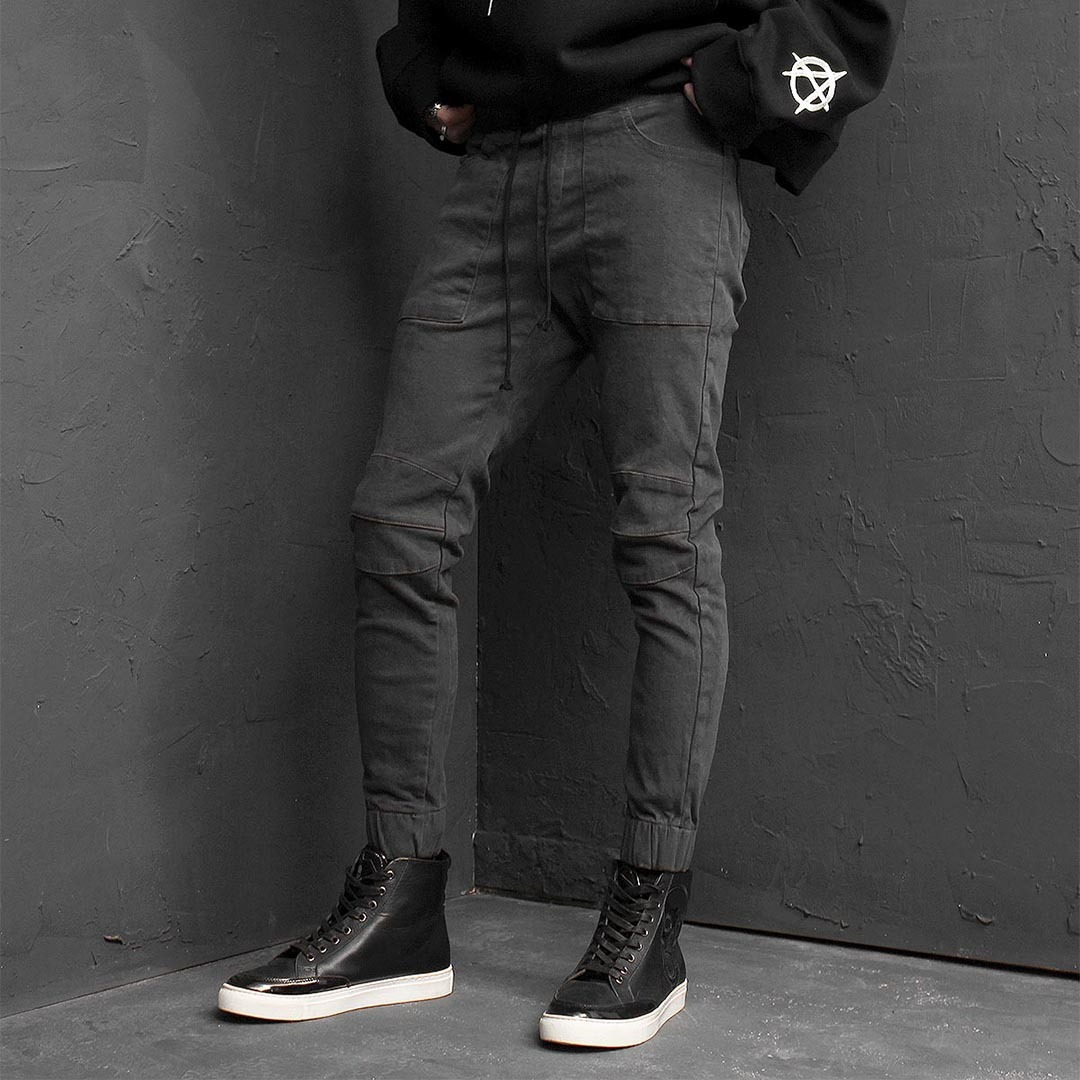 Fleecy Slim Biker Jogger Pants 128