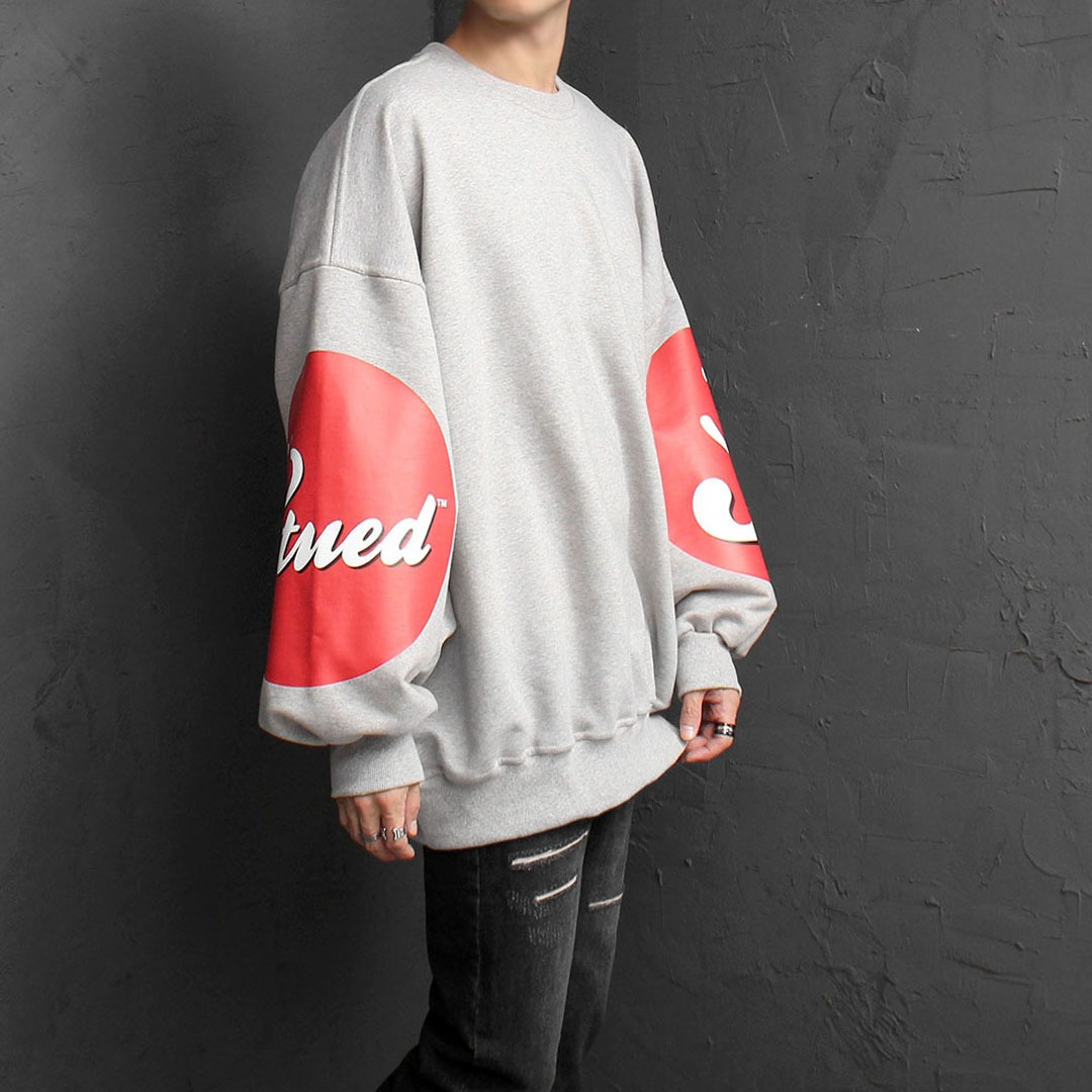 Oversized Fit Wide Sleeve Printing Sweatshirt 1561