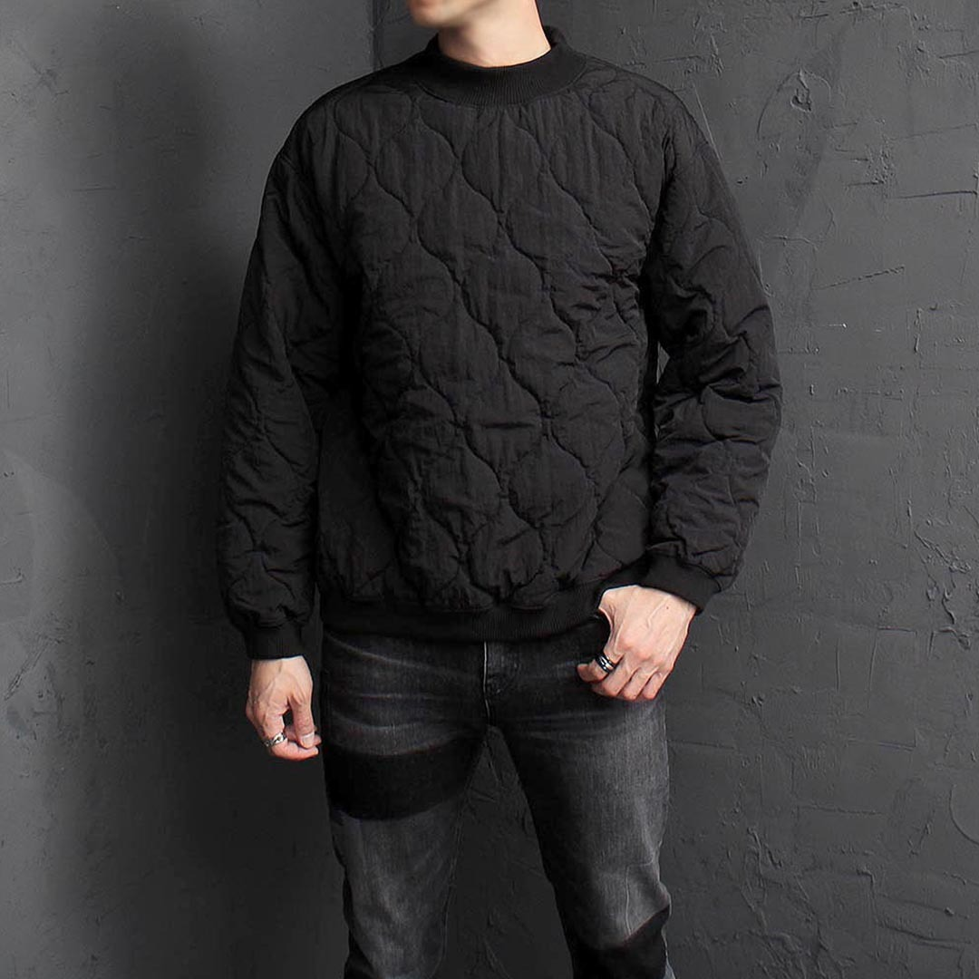 Quilting Padded Sweatshirt 1574