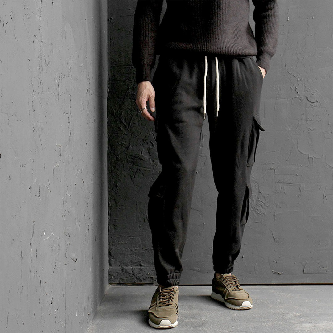 Double Cargo Pocket Gym Wear Jogger Pants 729