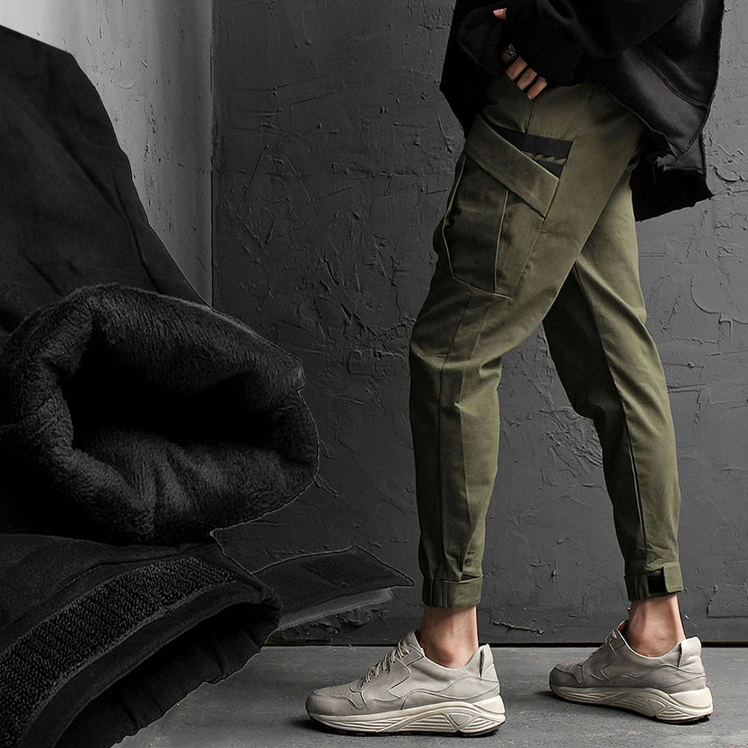 Slim Fit Elastic Waistband Cargo Joggers 1640