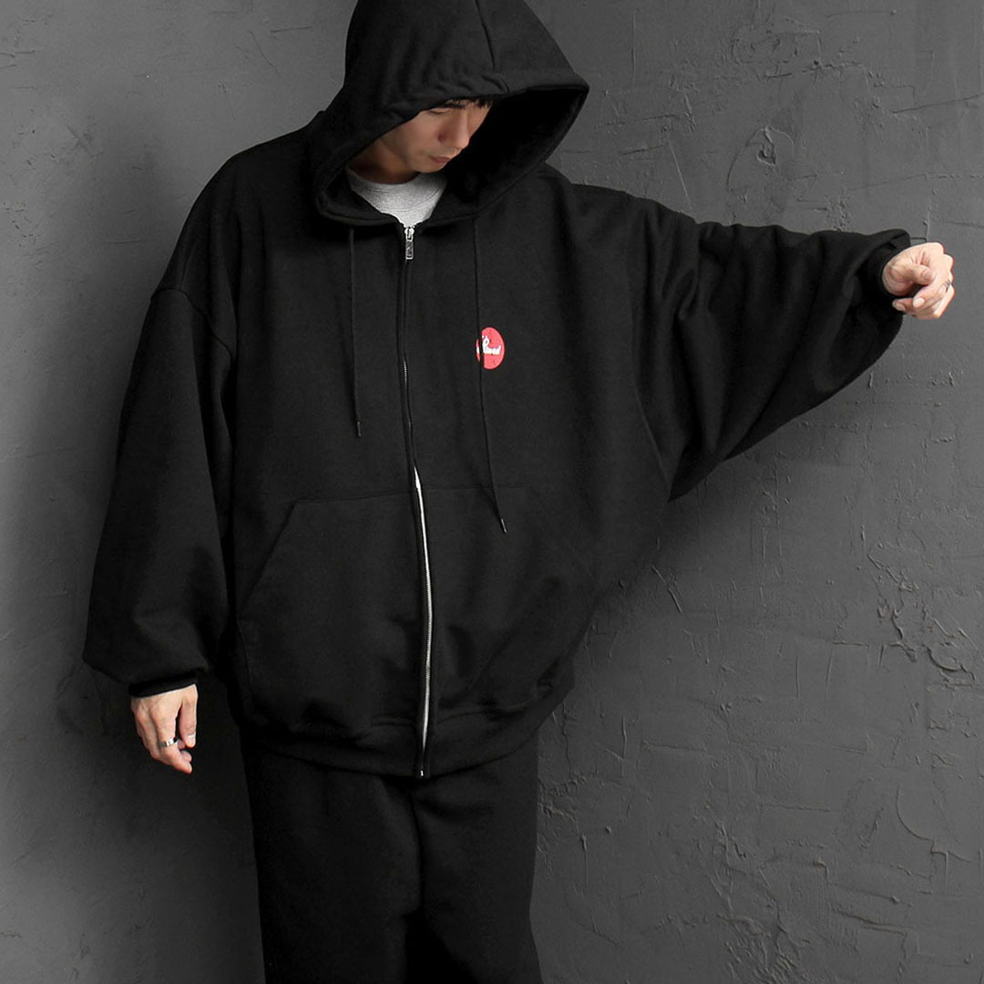 Oversized Fit Zip Up Hoodie 1609