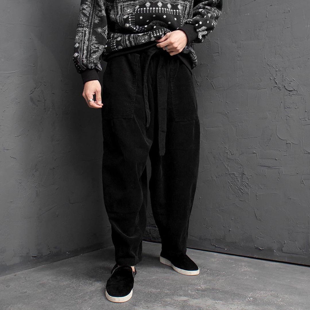 Corduroy Wide Baggy Pants 1592
