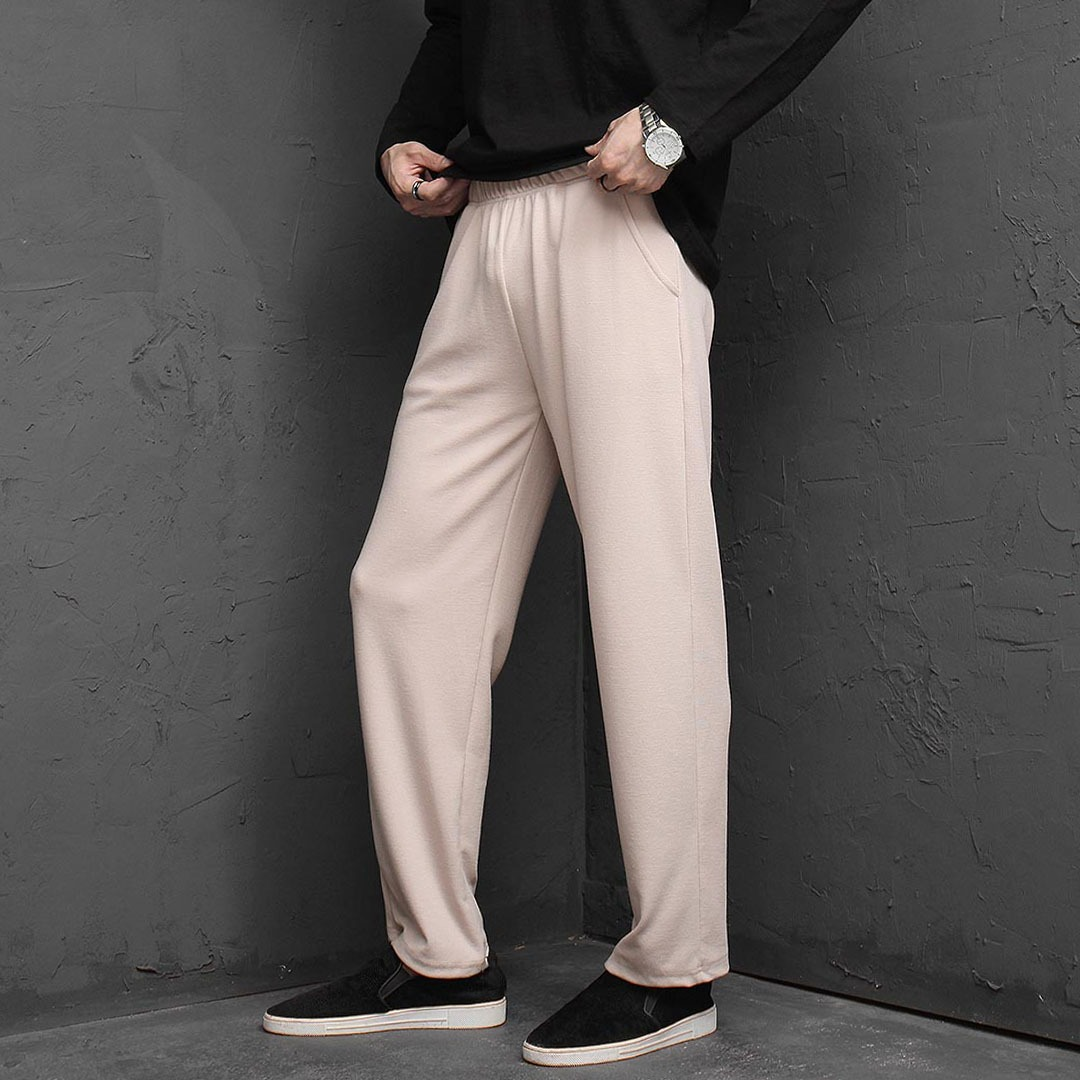 Stretchable Knit Wide Sweatpants 1349