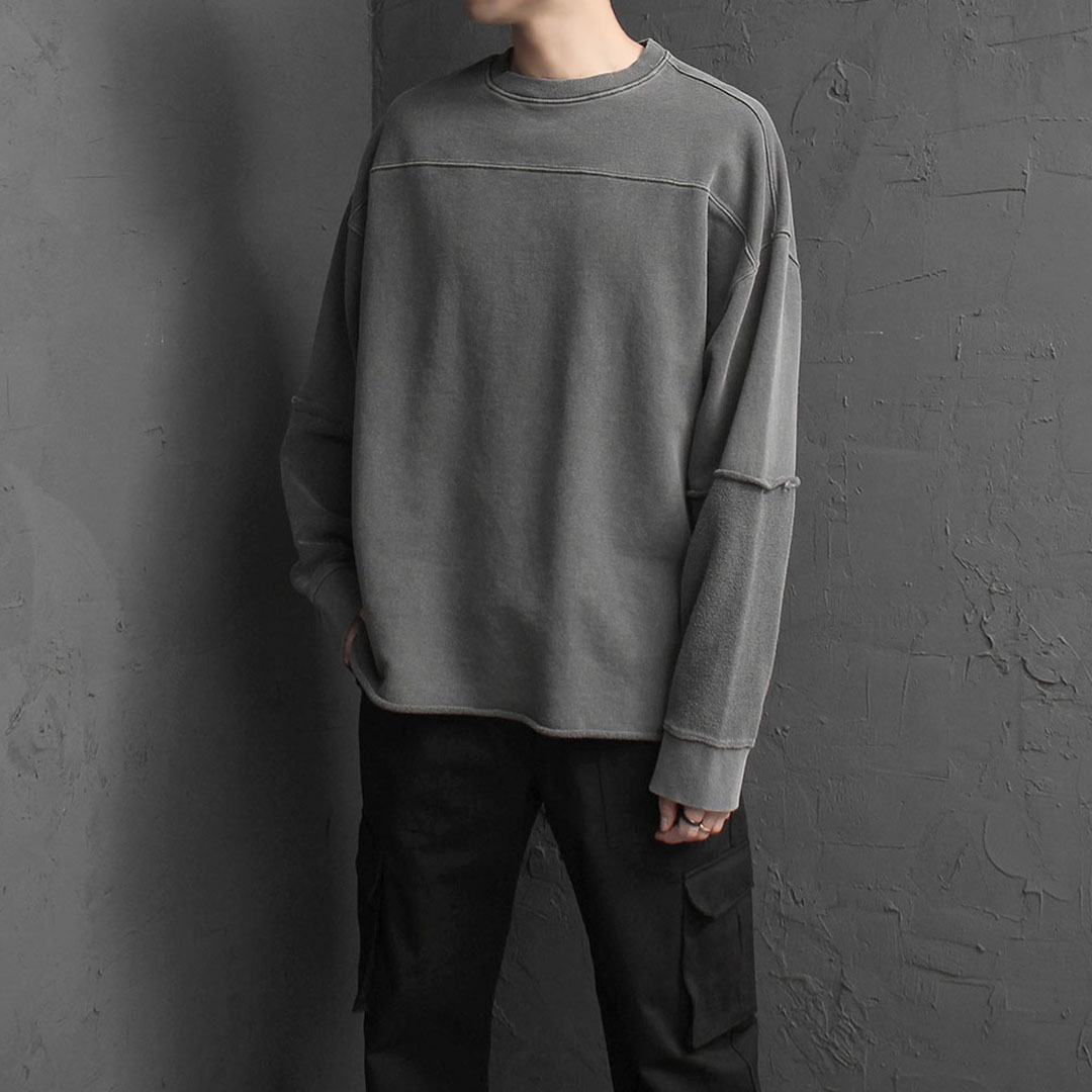 Oversized Fit Sleeve Reversed Pigment Sweatshirt 1956