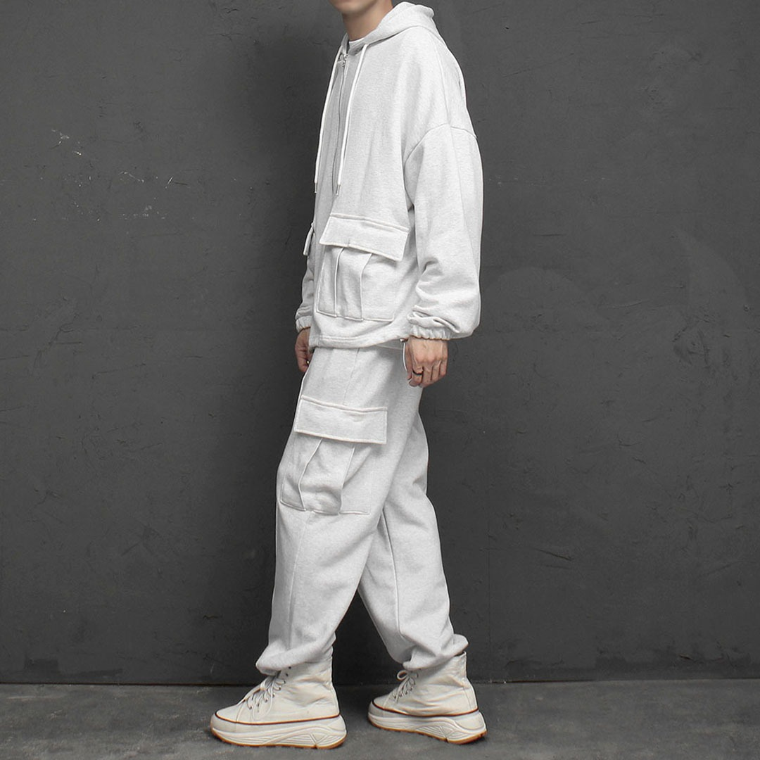 Cargo Zip Up Hoodie Sweatpants Set 1928