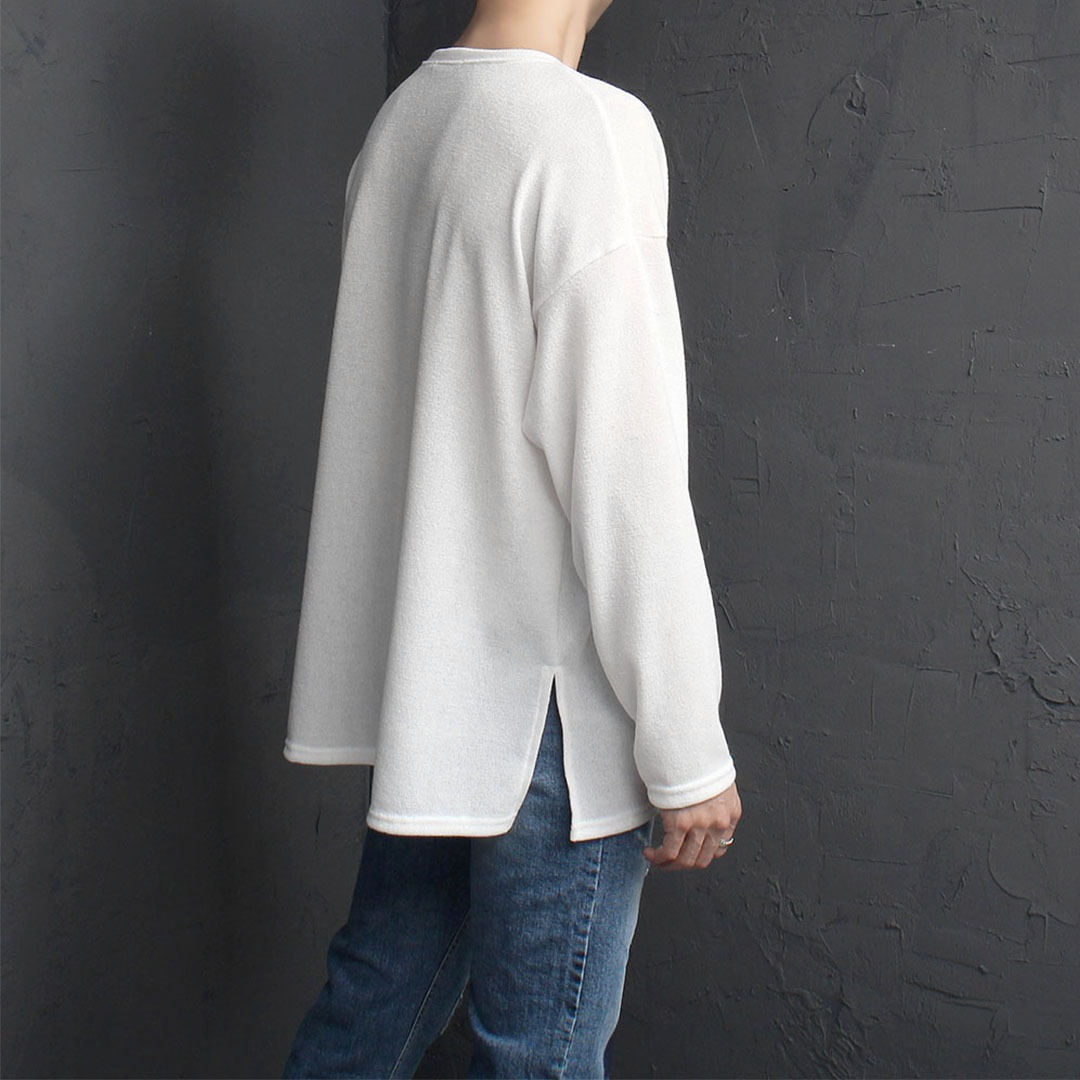 Loose Fit Split Side Knit Tee 2000