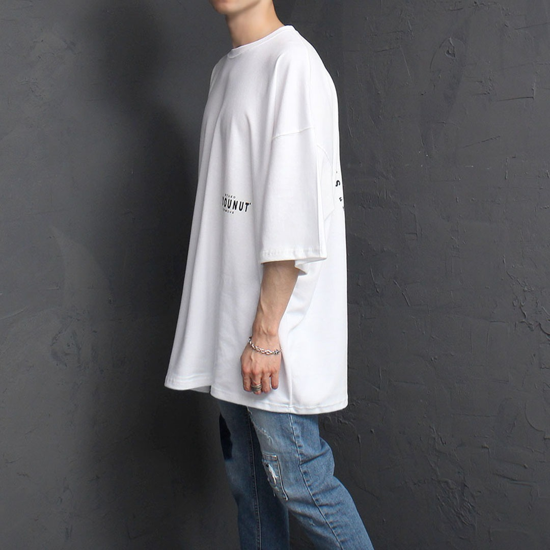 Oversized Fit Graphic Printing Tee 2063