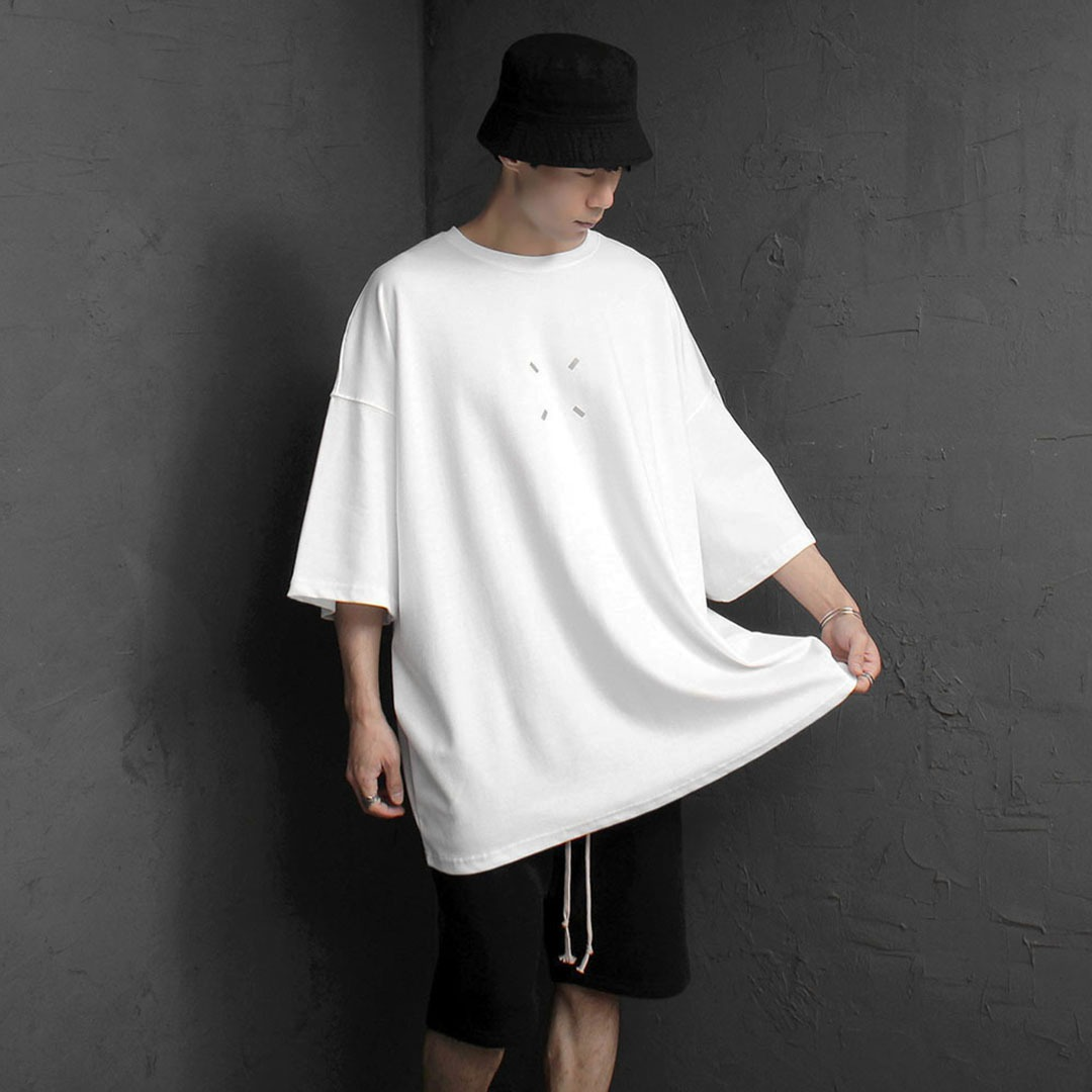 Oversized Fit Square Patch Logo Tee 2157