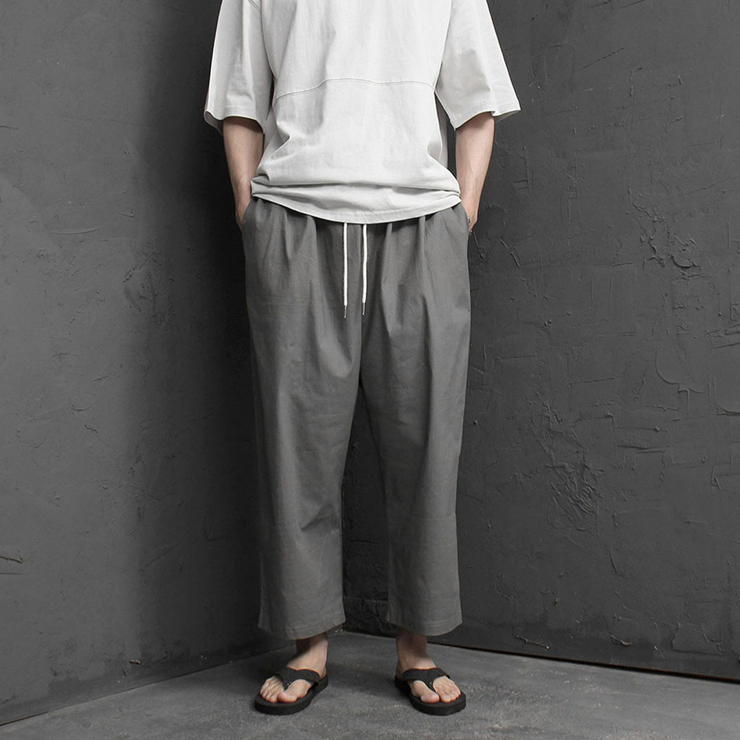 Stretchable Linen Wide Baggy Pants 2128