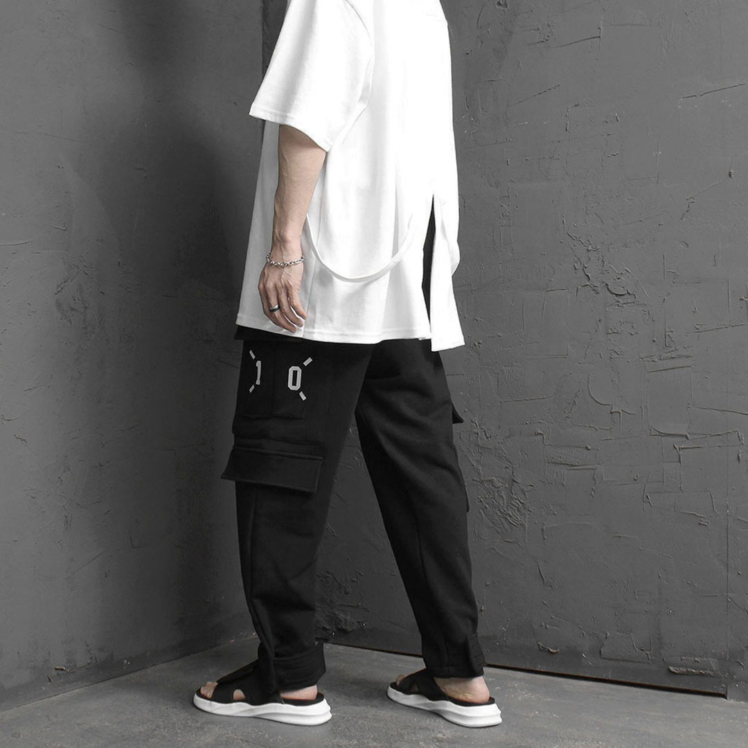 Unique Unbalanced Cargo Sweatpants 2147