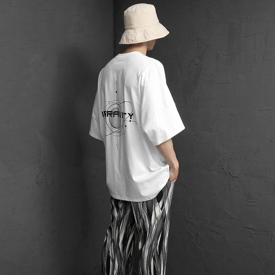 Oversized Fit Earth Printing Tee 2164